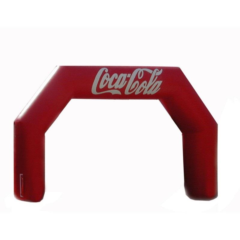 arco de meta hinchable coca cola